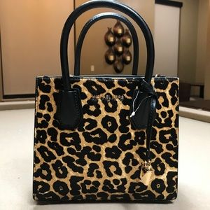Michael Kors Mercer Leopard Calf Hair Accordion